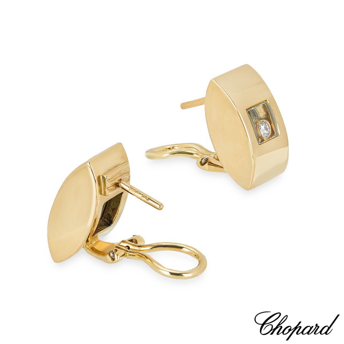 Chopard Yellow Gold Happy Diamonds Earrings 84/3335